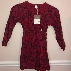 Tea Collection Red Wrap Dress 8